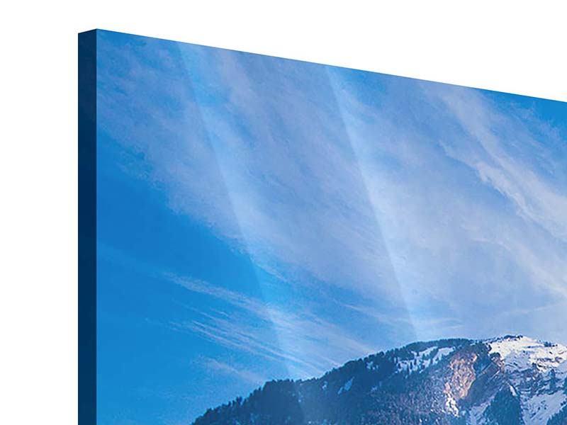 Acrylglasbild 3-teilig modern Winterwunderland