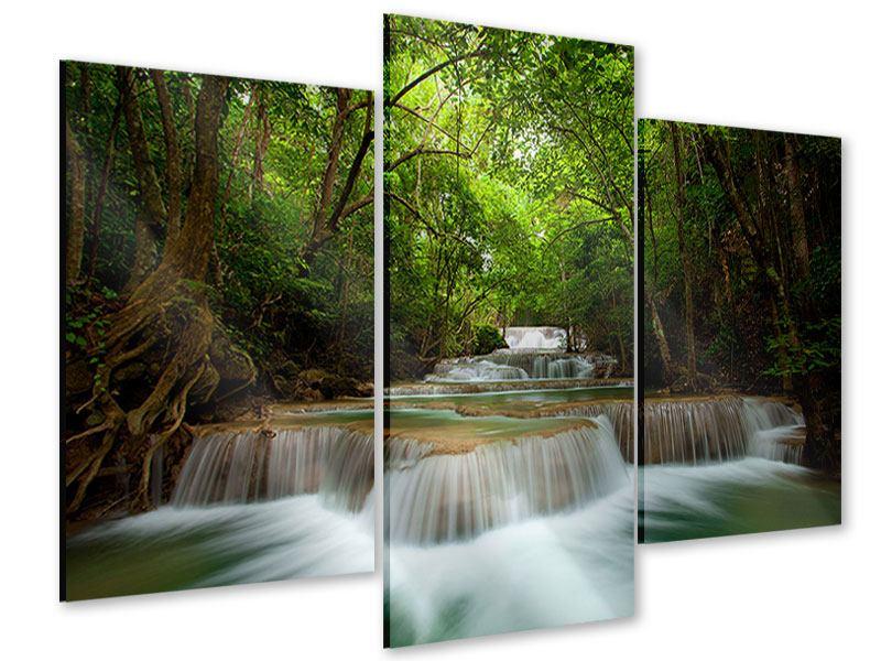 Acrylglasbild 3-teilig modern Die 7 Stufen