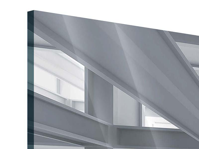 Acrylglasbild 3-teilig modern Räume