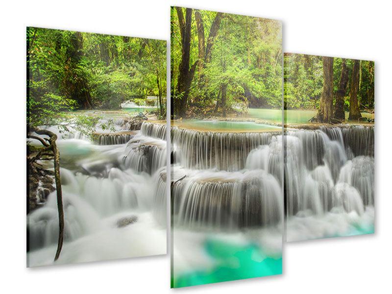 Acrylglasbild 3-teilig modern Erawan