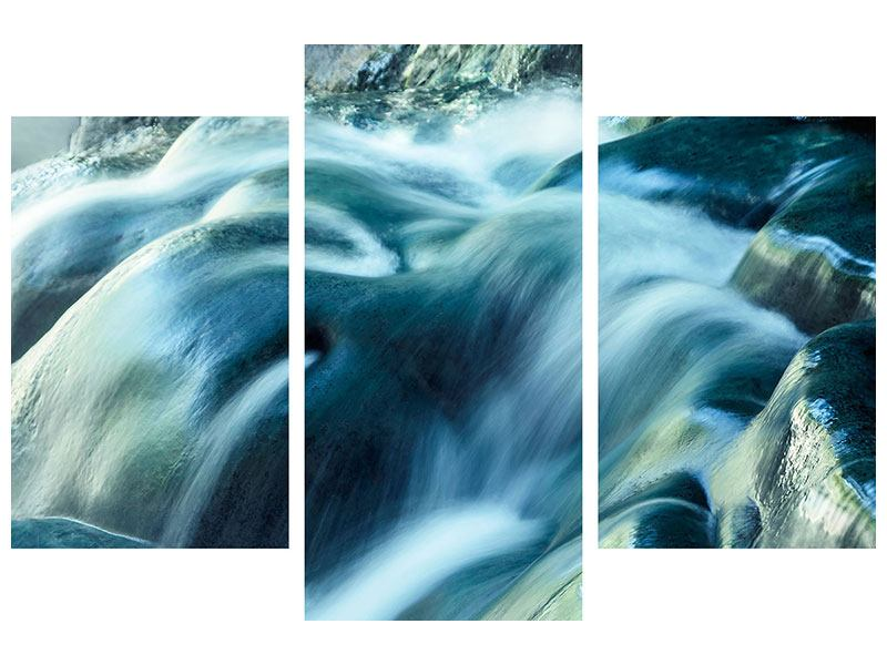 Acrylglasbild 3-teilig modern Das Fliessende Wasser