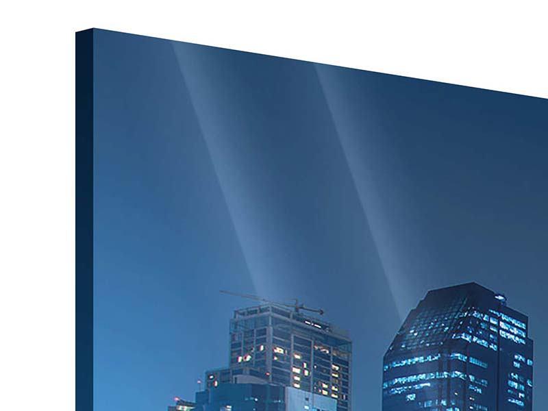 Acrylglasbild 3-teilig modern Skyline Bangkok bei Nacht