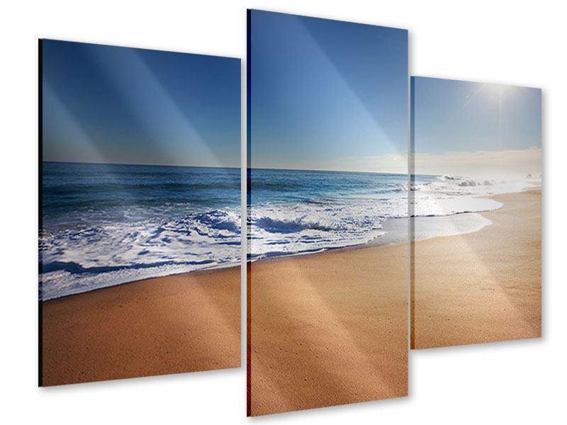 Acrylglasbild 3-teilig modern Privatstrand