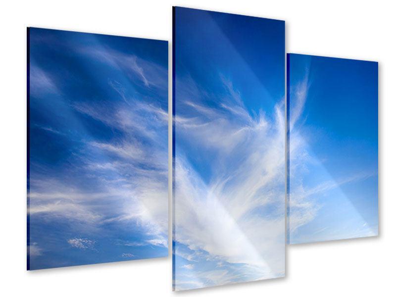 Acrylglasbild 3-teilig modern Schleierwolken