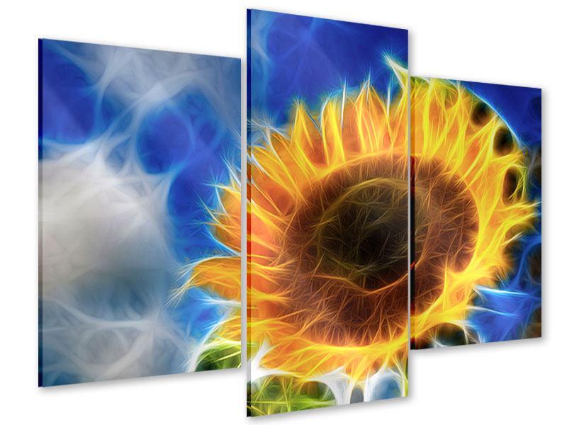 Acrylglasbild 3-teilig modern Der Sonne entgegen