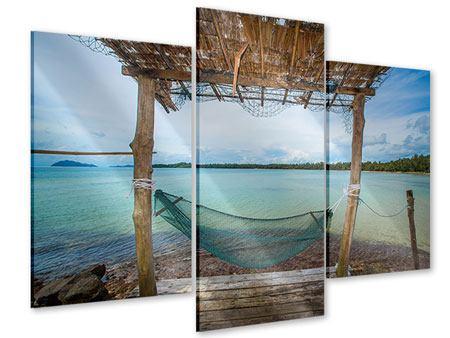 Acrylglasbild 3-teilig modern Hängematte