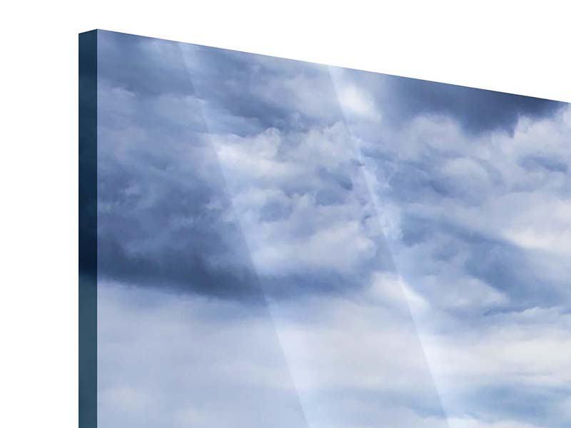 Acrylglasbild 3-teilig modern Inselfeeling