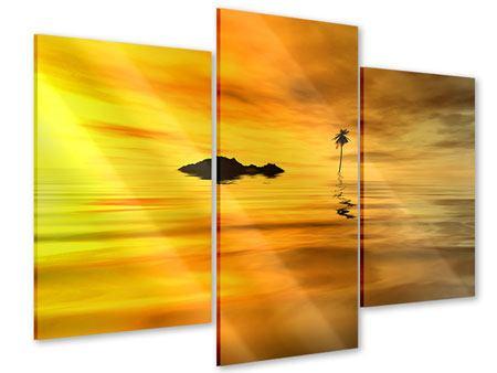 Acrylglasbild 3-teilig modern Ab auf die Insel