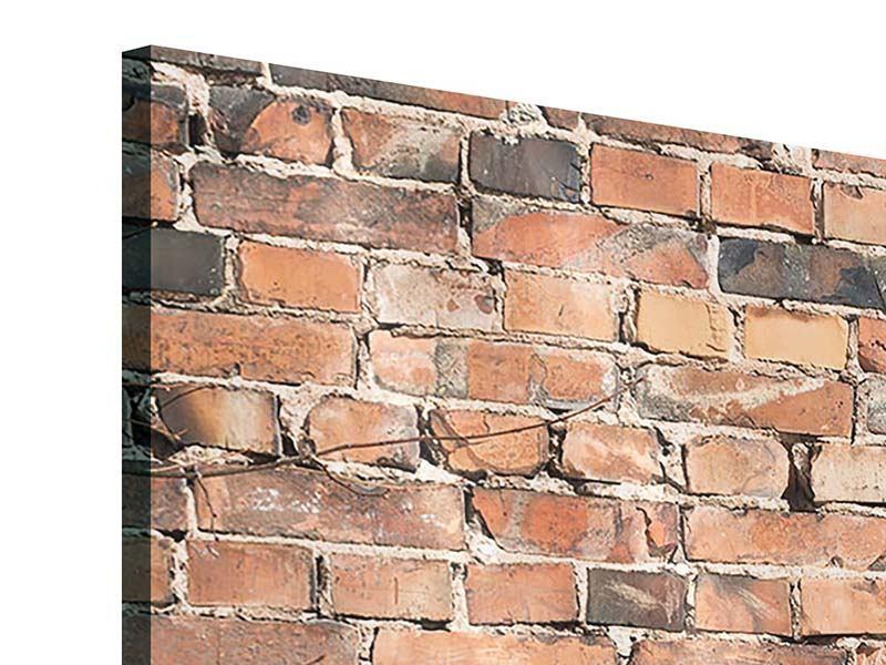 Acrylglasbild 3-teilig modern Alte Backsteinmauer