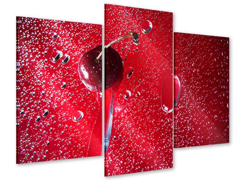Acrylglasbild 3-teilig modern Die Kirsche