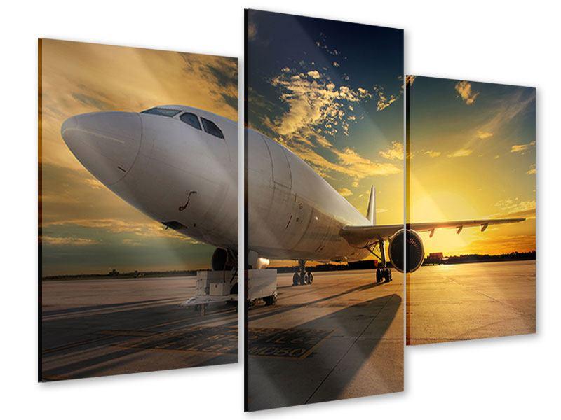 Acrylglasbild 3-teilig modern Jet