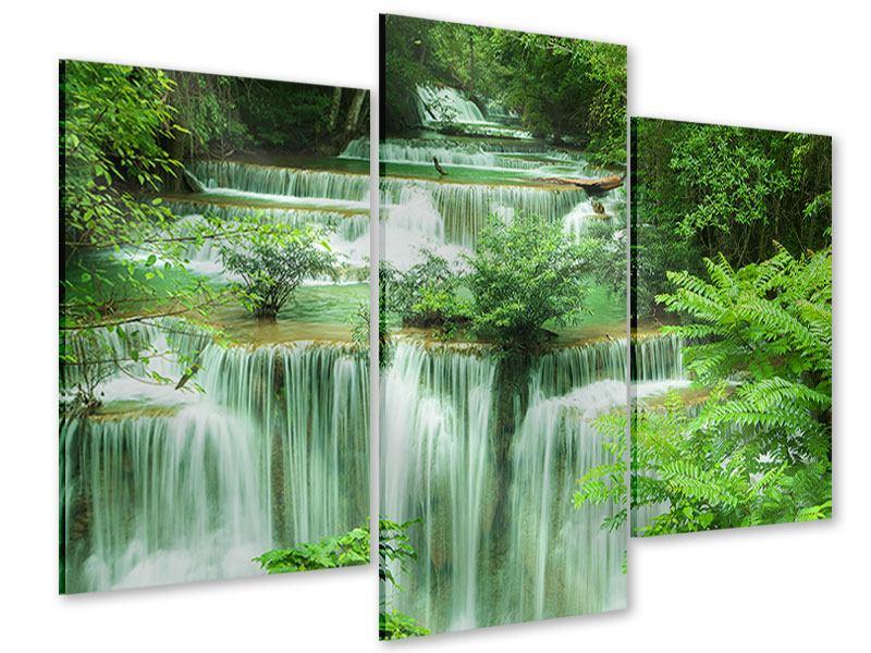 Acrylglasbild 3-teilig modern 7 Stufen in Thailand