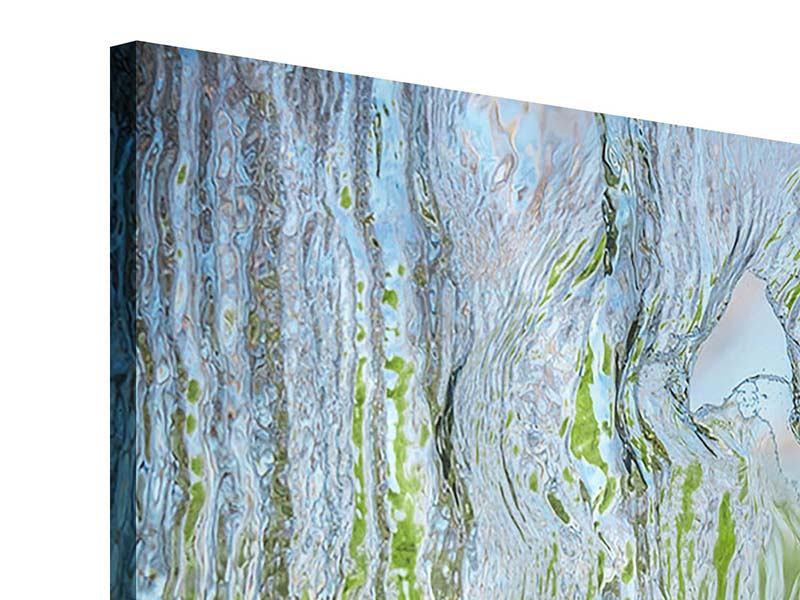 Acrylglasbild 3-teilig modern Hinter dem Wasserfall