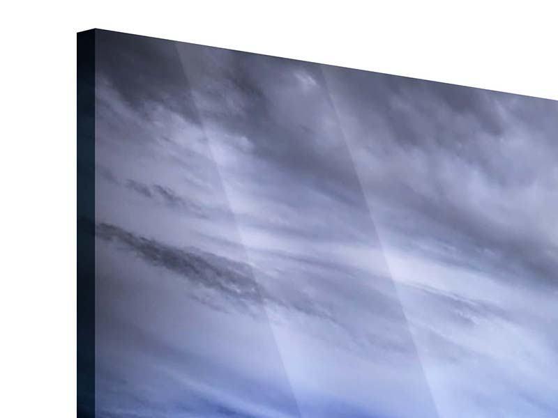 Acrylglasbild 3-teilig modern Strandwellen
