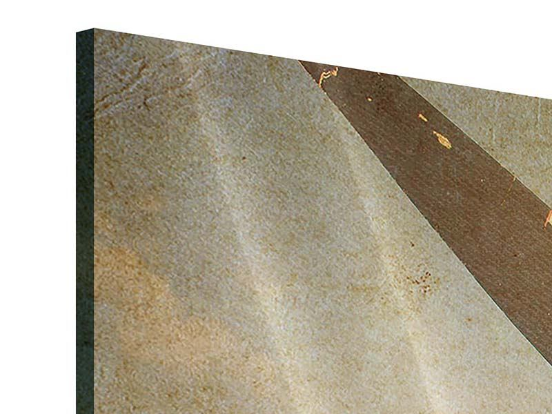 Acrylglasbild 3-teilig modern Propellerflugzeug im Grungestil