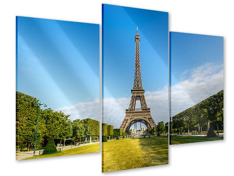 Acrylglasbild 3-teilig modern Der Eiffelturm in Paris