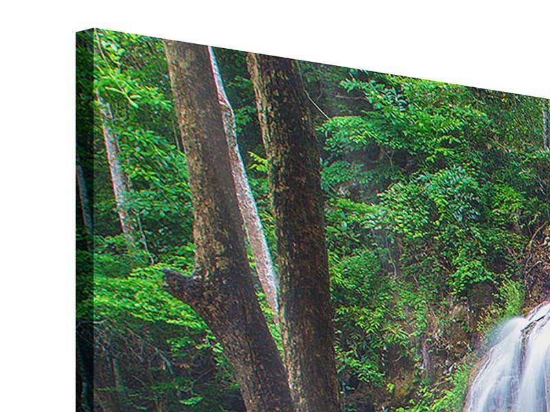 Acrylglasbild 3-teilig modern Naturerlebnis Wasserfall