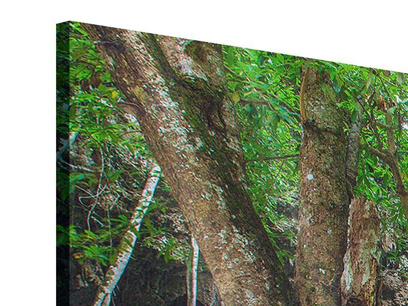 Acrylglasbild 3-teilig modern Fliessgewässer