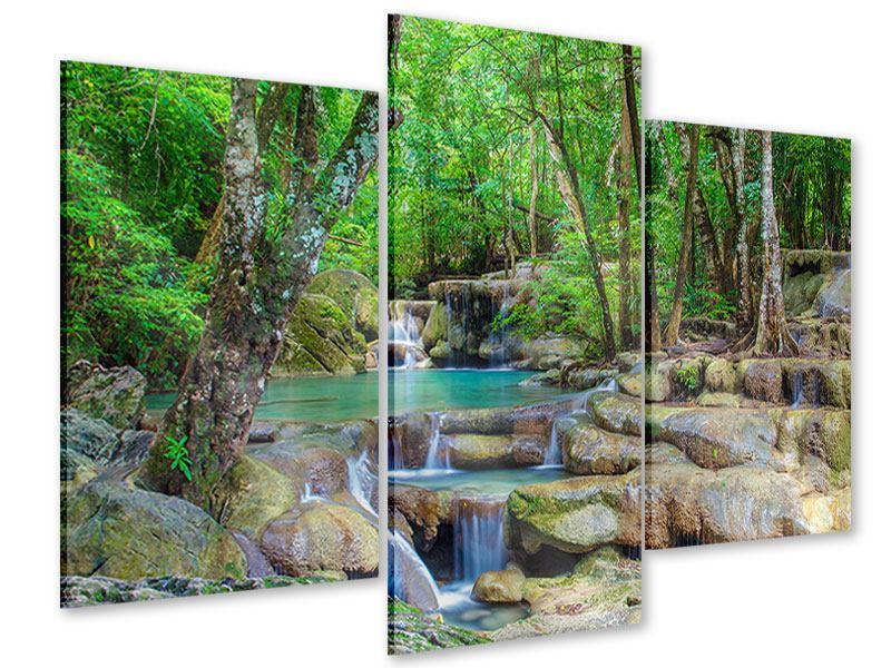 Acrylglasbild 3-teilig modern Wasserspektakel