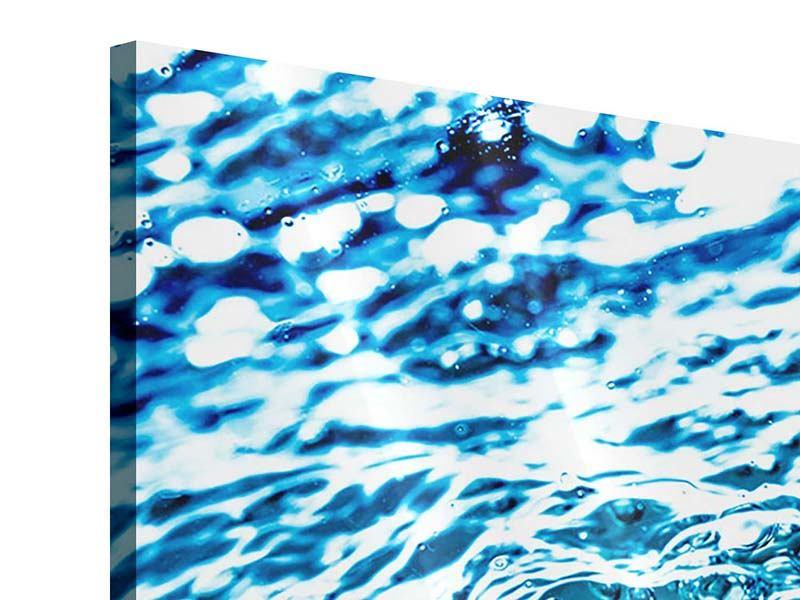 Acrylglasbild 3-teilig modern Wasser in Bewegung