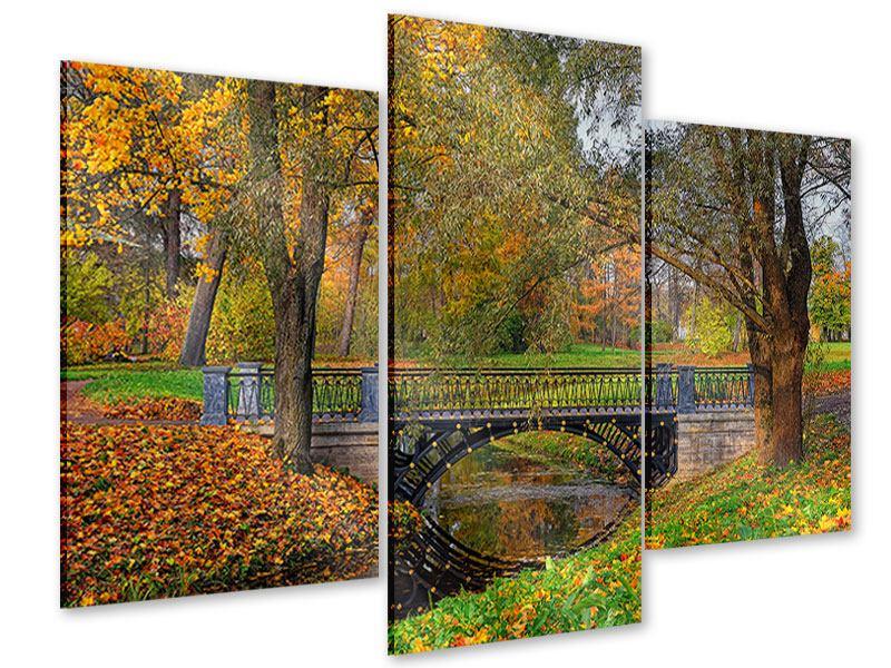 Acrylglasbild 3-teilig modern Romantischer Park