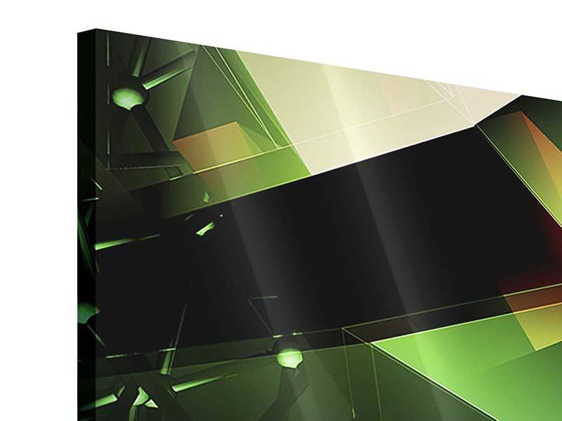 Acrylglasbild 3-teilig modern 3D-Polygon