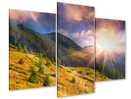Acrylglasbild 3-teilig modern Herbstanfang