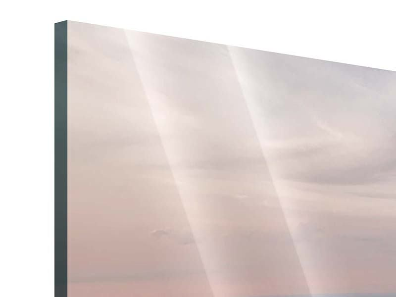 Acrylglasbild 3-teilig modern Skyline Blick über Manhattan