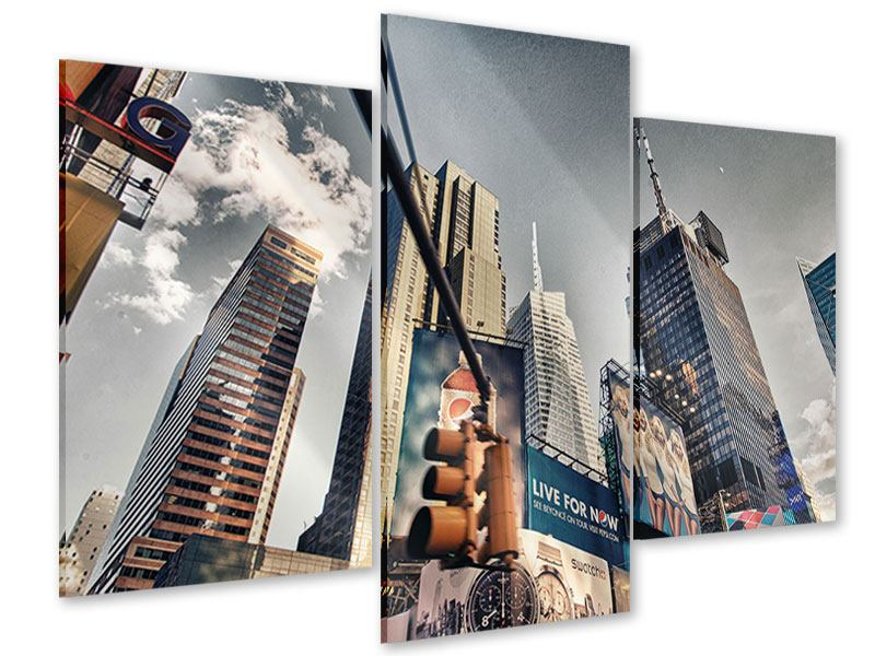Acrylglasbild 3-teilig modern Times Square