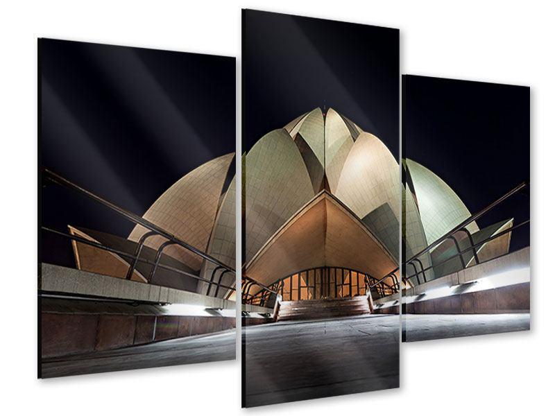 Acrylglasbild 3-teilig modern Der Lotus-Tempel
