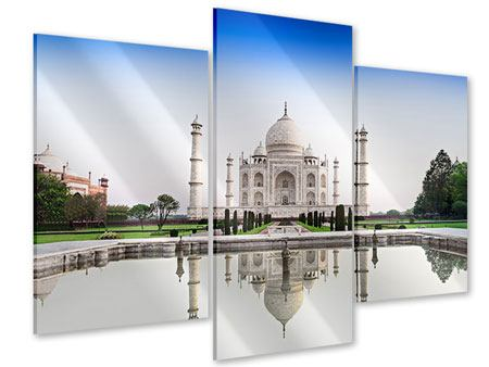 Acrylglasbild 3-teilig modern Taj Mahal