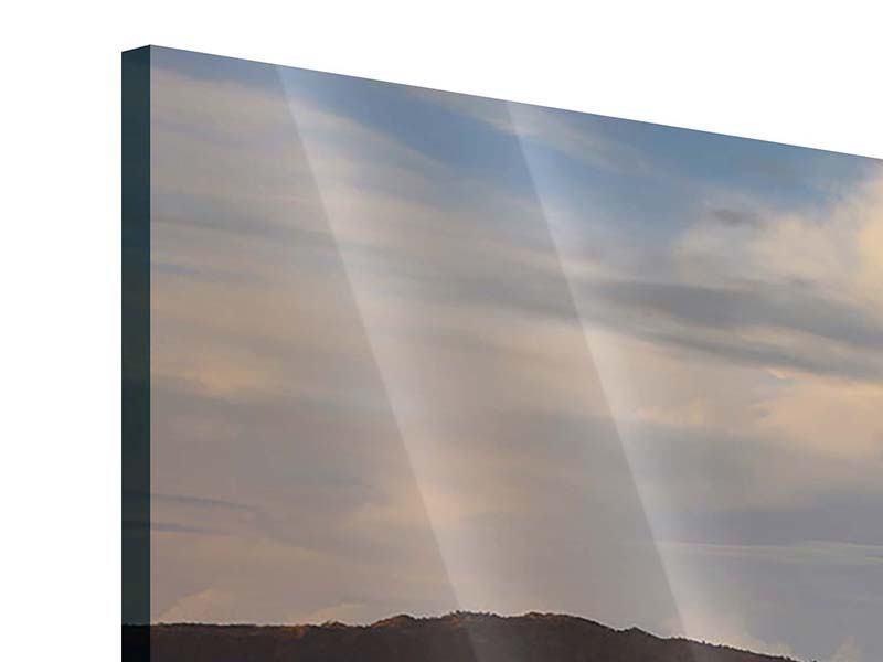 Acrylglasbild 3-teilig modern Der Bromo Vulkan
