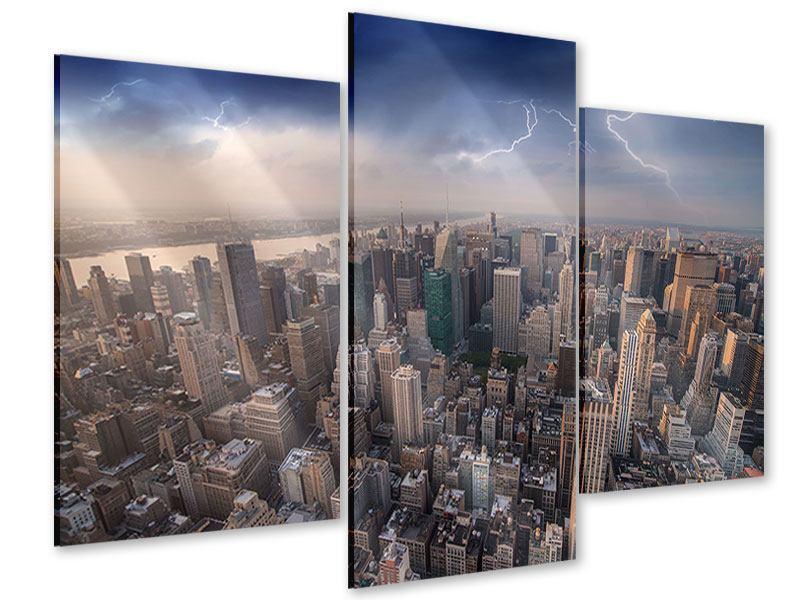 Acrylglasbild 3-teilig modern Manhattan