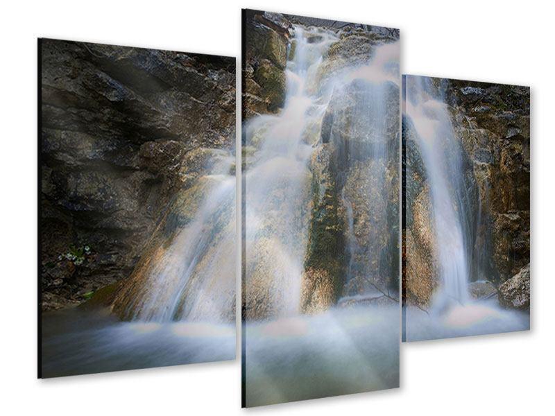 Acrylglasbild 3-teilig modern Imposanter Wasserfall