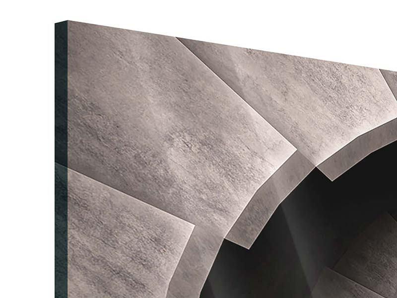 Acrylglasbild 3-teilig modern Steinwendeltreppe