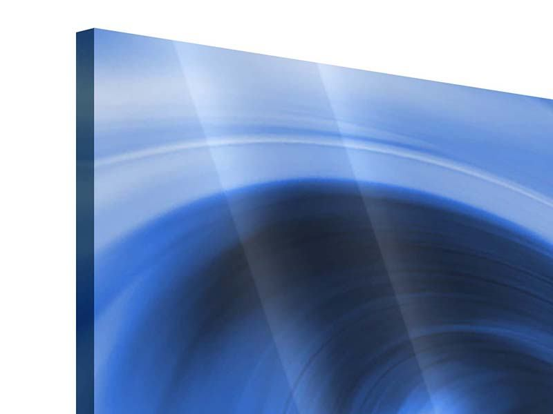 Acrylglasbild 3-teilig modern Abstrakte blaue Welle