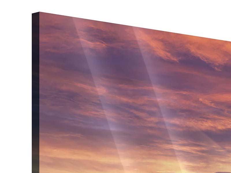 Acrylglasbild 3-teilig modern Sonnenaufgang Winterlandschaft
