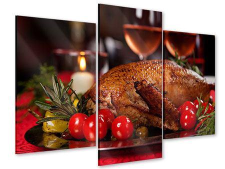 Acrylglasbild 3-teilig modern Köstliches Geflügel