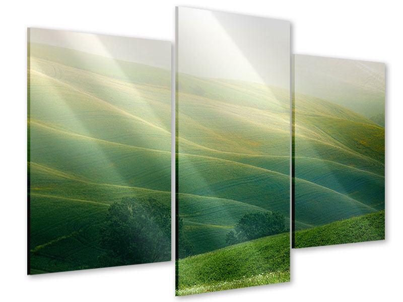 Acrylglasbild 3-teilig modern Toskana