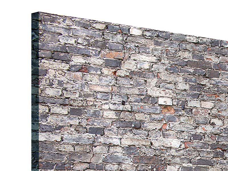 Acrylglasbild 3-teilig modern Alte Backsteine