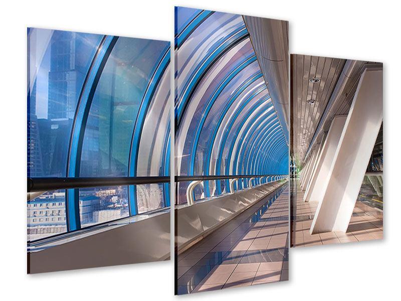 Acrylglasbild 3-teilig modern Hypermoderne Brücke