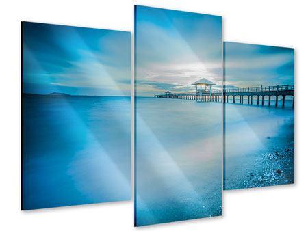 Acrylglasbild 3-teilig modern Brückenimpression
