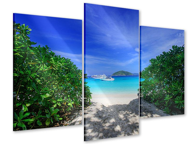 Acrylglasbild 3-teilig modern Similan-Inseln