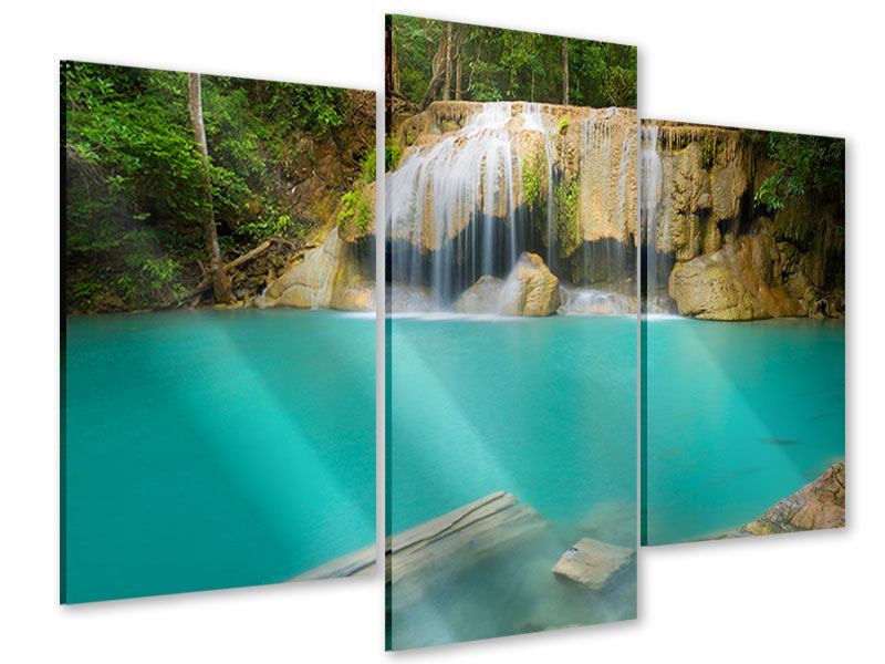 Acrylglasbild 3-teilig modern Frische Brise