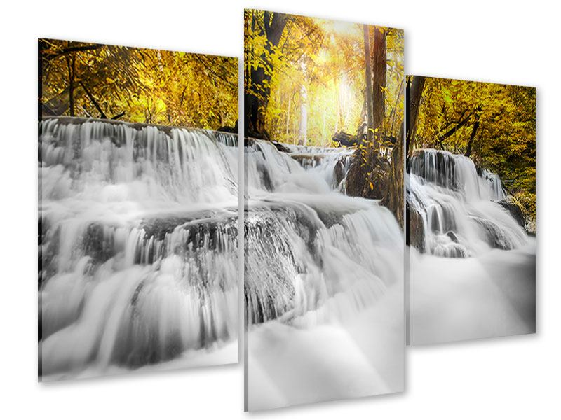Acrylglasbild 3-teilig modern Wasser in Aktion