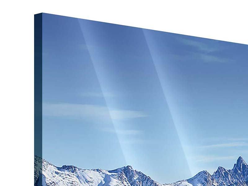 Acrylglasbild 3-teilig modern Gipfelspitzen