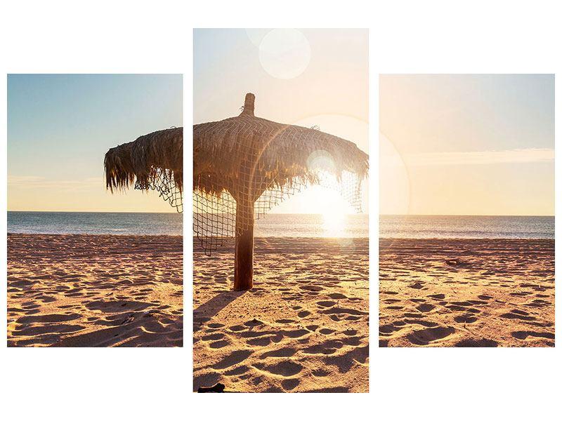 Acrylglasbild 3-teilig modern Der Sonnenschirm