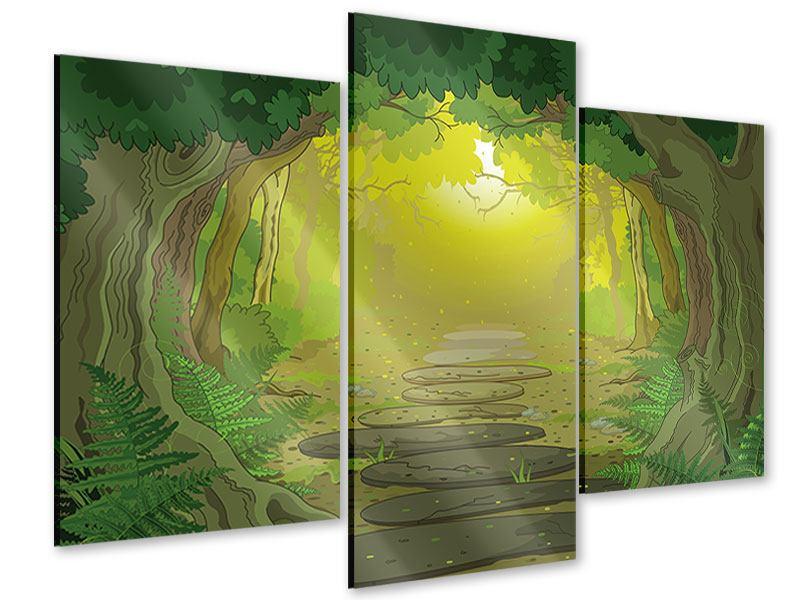 Acrylglasbild 3-teilig modern Der Märchenwald