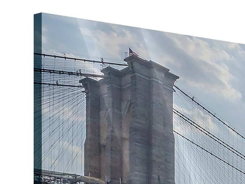 Acrylglasbild 3-teilig modern Brooklyn Bridge