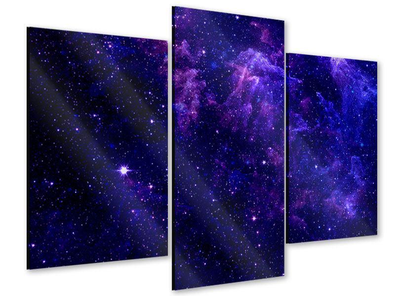Acrylglasbild 3-teilig modern Ein Himmel voll Sterne